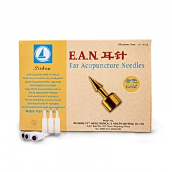 Ear needles with piston gold plated E.A.N 100 pcs.