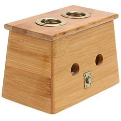 Pojemnik domek pudełko na moksę - 2 otwory