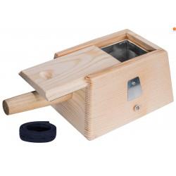Drewniany pojemnik na moksa wata