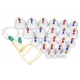 Bańki plastikowe z dokładanymi magnesami i pompką (24 szt)