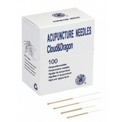 Needles CLOUD&DRAGON gold-plated without a guide 100 pcs.