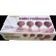 Bańki gumowo-szklane do masażu próżniowego twarzy - zestaw 4 szt.