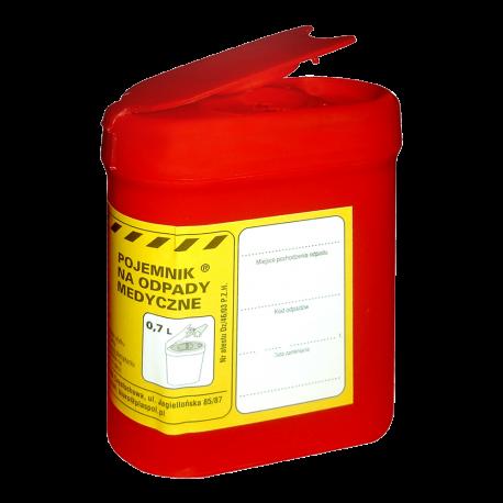 Pojemnik na odpady medyczne, zużyte igły 0,7 L