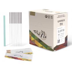 Корейские иглы DANA со стальной ручкой и направляющей 1000 шт. В КАРМАНЕ.