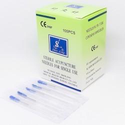 Иглы SHEN LONG с посеребренной ручкой и направляющей, силиконизированы 100 шт.