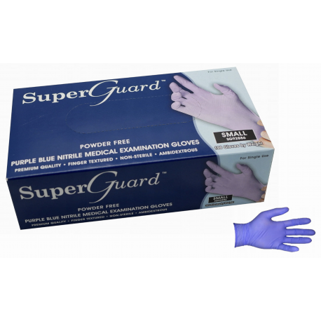 Rękawice nitrylowe bezpudrowe niebieskie S,M,L