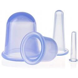 Zestaw 4 silikonowych baniek do masażu twarzy i ciała